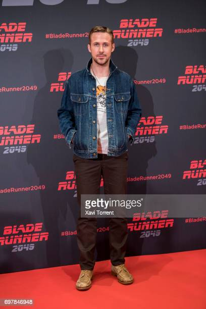Ryan Gosling attends 'Blade Runner 2049' photocall at Arts Hotel on June 19, 2017 in Barcelona, Spain.