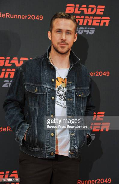 Ryan Gosling attends 'Blade Runner 2049' photocall during at Arts Hotel on June 19, 2017 in Barcelona, Spain.
