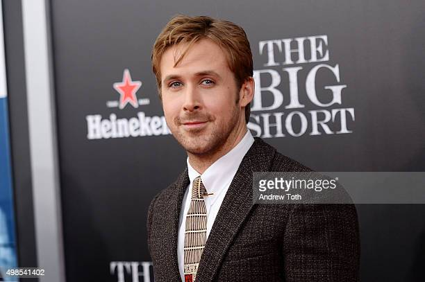 Ryan Gosling attends The Big Short New York premiere at Ziegfeld Theater on November 23 2015 in New York City