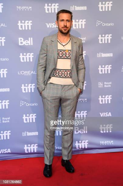 Ryan Gosling attends the First Man press conference during 2018 Toronto International Film Festival at TIFF Bell Lightbox on September 11 2018 in...
