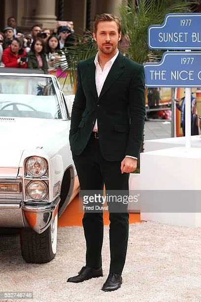 Ryan Gosling attends The Nice Guys UK Premiere at Odeon Leicester Square on May 19 2016 in London England