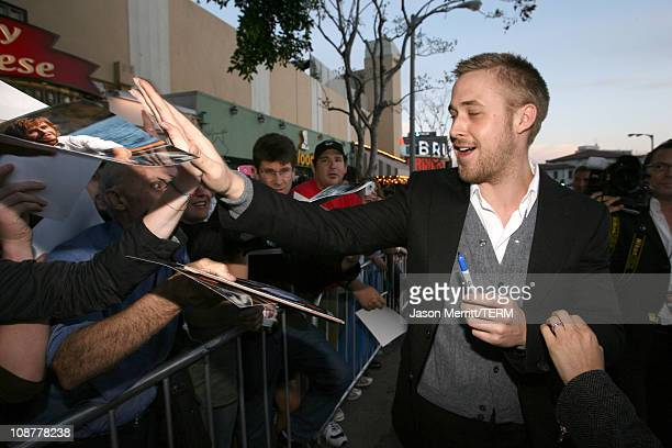 Ryan Gosling during 'Fracture' Los Angeles Premiere Red Carpet at Mann Village Theater in Westwood California United States