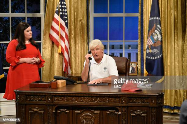 LIVE Ryan Gosling Episode 1726 Pictured Aidy Bryant as White House press secretary Sarah Huckabee Sanders Alec Baldwin as President of the United...