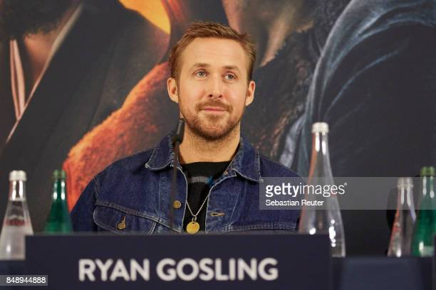Ryan Gosling is seen at a press panel at Hotel Adlon on September 18 2017 in Berlin Germany