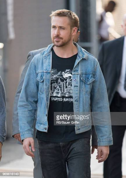 Ryan Gosling is seen at 'Jimmy Kimmel Live' on June 07 2018 in Los Angeles California