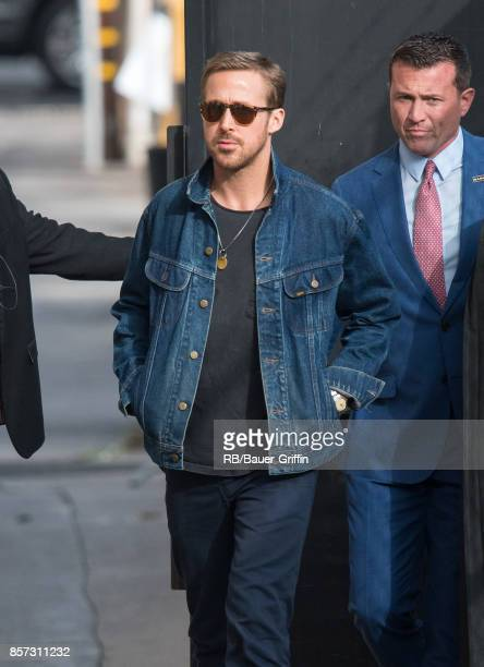 Ryan Gosling is seen at 'Jimmy Kimmel Live' on October 03 2017 in Los Angeles California