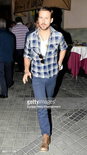Ryan Gosling is seen leaving Lando restaurant on September 18 2017 in Madrid Spain