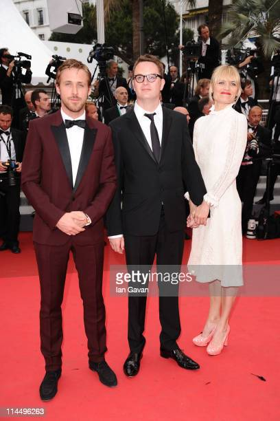 Ryan Gosling Nicolas Winding Refn and guest attends the 'Les BienAimes' premiere at the Palais des Festivals during the 64th Cannes Film Festival on...