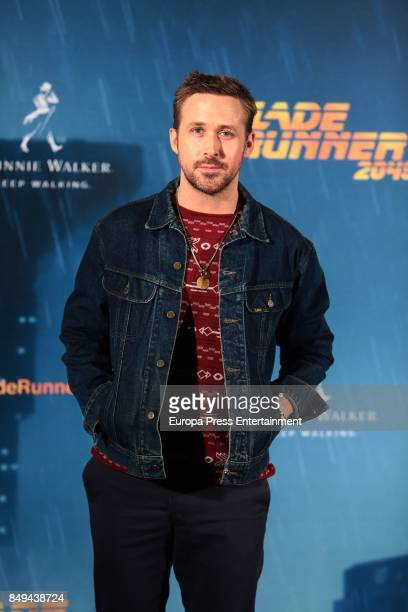 Ryan Gosling poses for the 'Blade Runner 2049' photocall at Villa Magna hotel on September 19 2017 in Madrid Spain