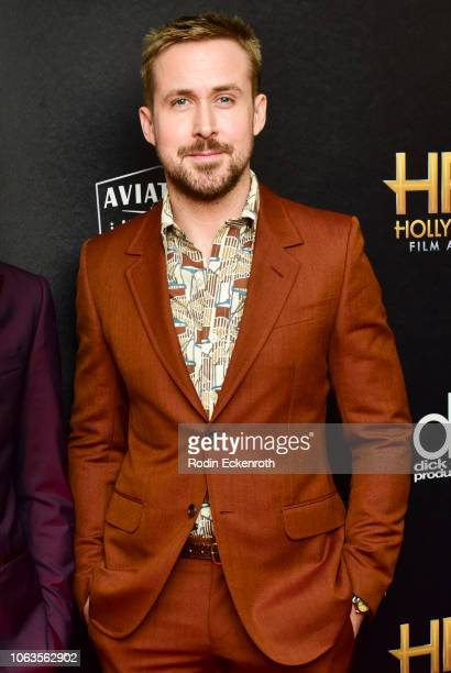 Ryan Gosling poses in press room at the 22nd Annual Hollywood Film Awards on November 04 2018 in Beverly Hills California