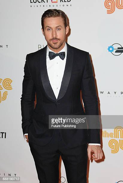 Ryan Gosling seen at the 'The Nice Guys' premiere at The Space Moderno on May 20, 2016 in Rome, Italy. PHOTOGRAPH BY Marco Ravagli / Barcroft Images...