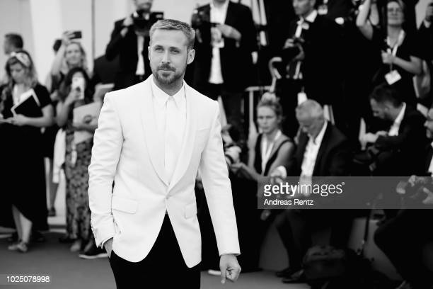 Ryan Gosling walks the red carpet ahead of the opening ceremony and the 'First Man' screening during the 75th Venice Film Festival at Sala Grande on...