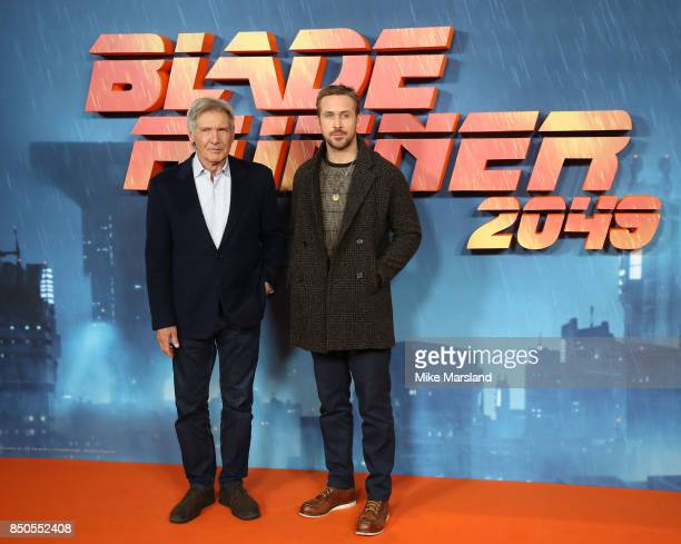 Ryan Goslingmand Harrison Ford attend the 'Blade Runner 2049' photocall at The Corinthia Hotel on September 21 2017 in London England