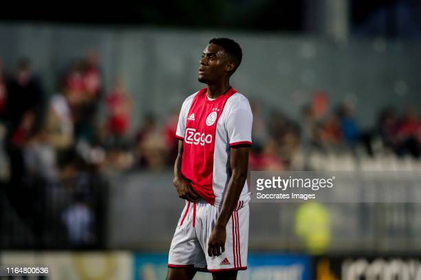 Ryan Gravenberch of Ajax U23 during the Dutch Keuken Kampioen Divisie match between Ajax U23 v Almere City at the De Toekomst on August 30, 2019 in...