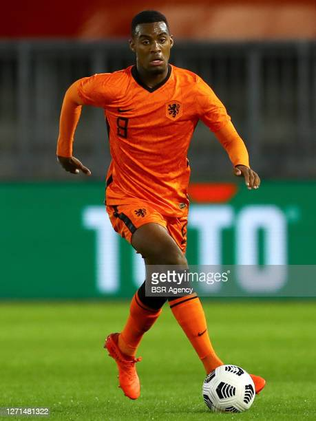 Ryan Gravenberch of the Netherlands during the UEFA Euro Under 21 Qualifing match between The Netherlands and Norway on September 8, 2020 in Almere,...