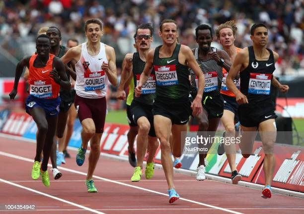 LR Ryan Gregson of Australia and Matthew Centrowitz of USA Compete in the 1500m Men during the Muller Anniversary Games Day One at The London Stadium...