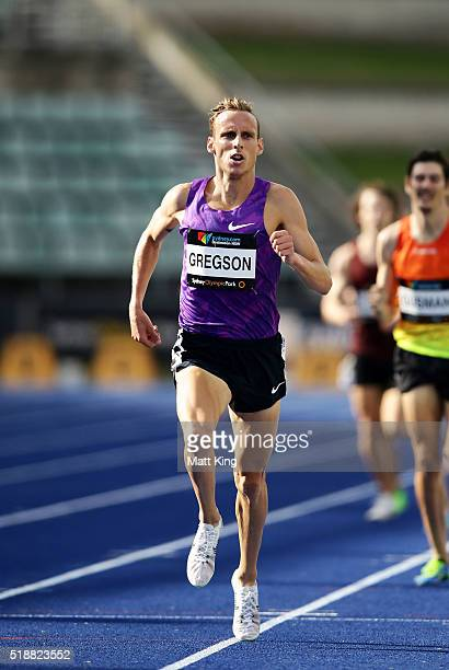 Ryan Gregson of Victoria competes in the Men's 1500m final during the Australian Athletics Championships at Sydney Olympic Park on April 3 2016 in...