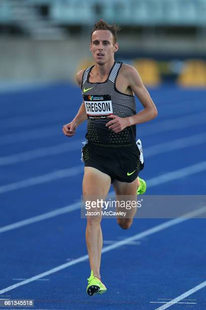 Ryan Gregson of Victoria competes in the mens open 1500m 1st round during day six of the Australian Athletics Championships at Sydney Olympic Park...