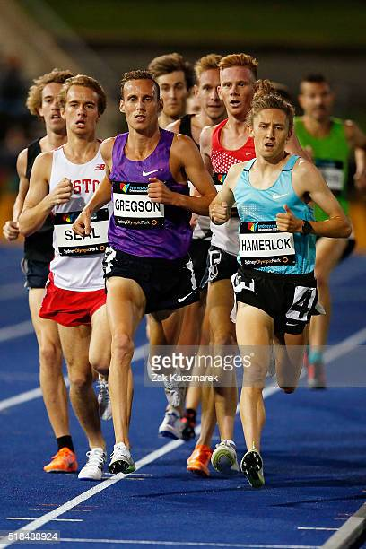Ryan Gregson of Victoria competesin the Men's 1500 metres during the Australian Athletics Championships at Sydney Olympic Park on April 1 2016 in...