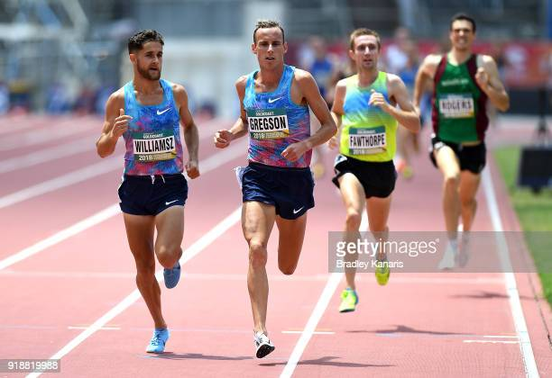 Ryan Gregson wins in the heats of the Men's 1500m event during the Australian Athletics Championships Nomination Trials at Carrara Stadium on...