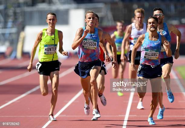 Ryan Gregson wins the final of the Men's 1500m event during the Australian Athletics Championships Nomination Trials at Carrara Stadium on February...
