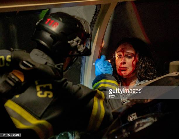 Ryan Guzman and guest star Rumer Willis in the What's Next season finale episode of 911 airing Monday May 11 on FOX