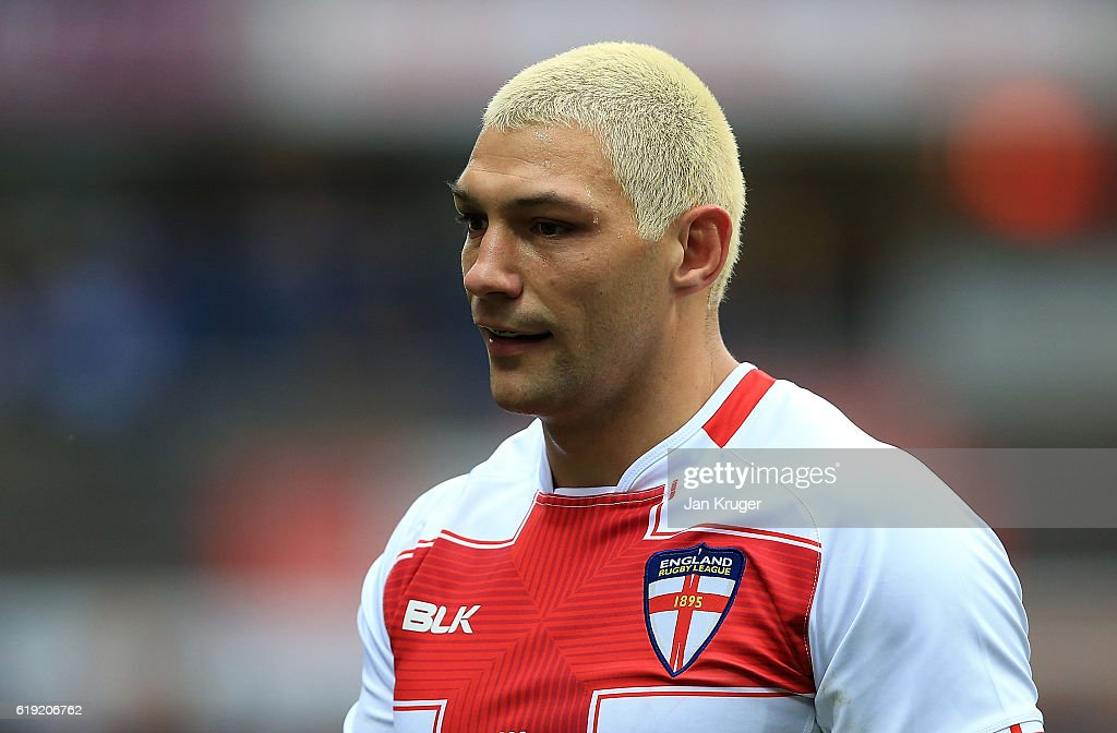 Ryan Hall of England looks on during the Four Nations match between England and New Zealand Kiwis at John Smith's Stadium on October 29, 2016 in Huddersfield, United Kingdom.