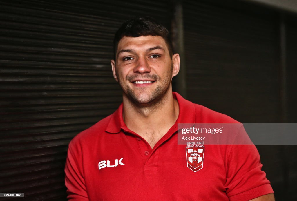 Ryan Hall of England poses for a portrait during a England Rugby League media day at the Village Hotel on October 10, 2017 in Bury, England.