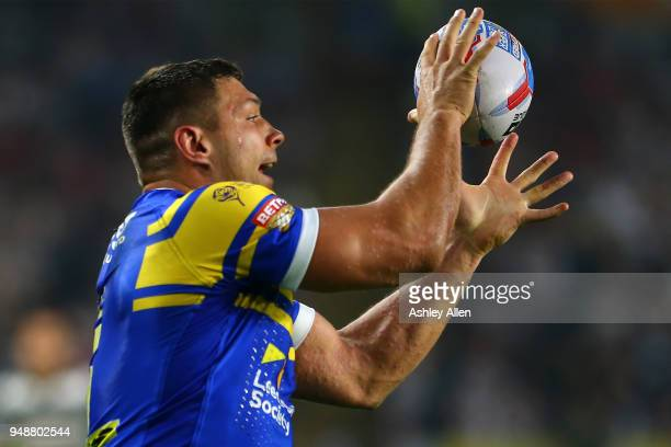 Ryan Hall of Leeds Rhinos in action during the BetFred Super League match between Hull FC and Leeds Rhinos at the KCOM Stadium on April 19 2018 in...