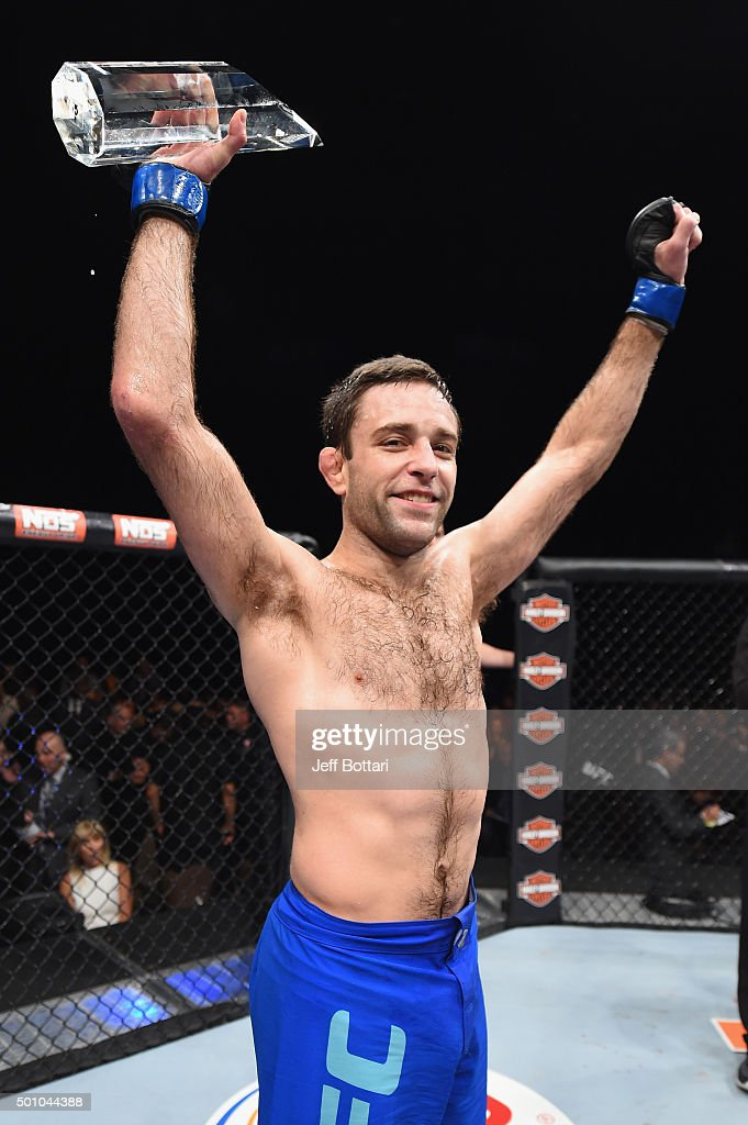 Ryan Hall reacts to his victory over Artem Lobov in their lightweight finals bout during the TUF Finale event inside The Chelsea at The Cosmopolitan of Las Vegas on December 11, 2015 in Las Vegas, Nevada.