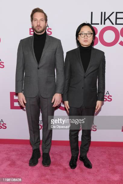 Ryan Hansen and Jimmy O Yang attend the world premiere of Like A Boss at SVA Theater on January 07 2020 in New York City