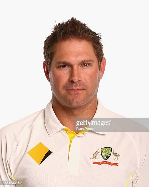 Ryan Harris of Australia poses during the Australia Test team headshots session at the Intercontinental Hotel on August 11 2014 in Sydney Australia