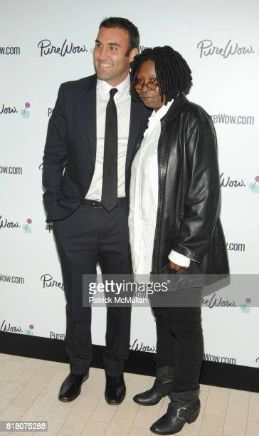 Ryan Harwood and Whoopi Goldberg attend WOMEN OF WOW Celebrate the launch of PureWowcom at R Lounge on September 29 2010 in New York Times Square...