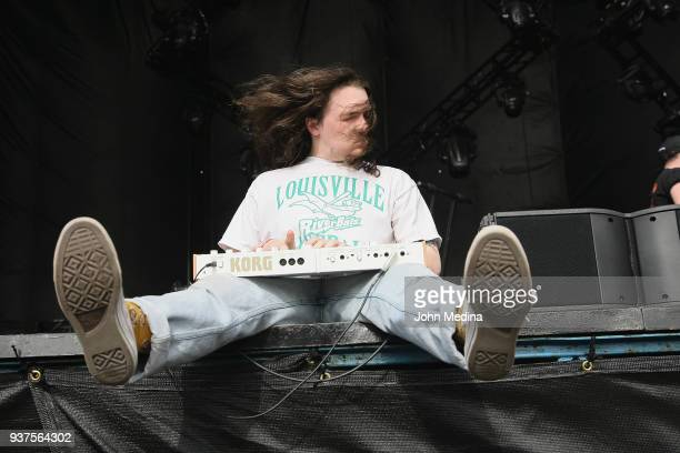 Ryan Hater of White Reaper performs during the 1st annual Innings Festival at Tempe Beach Park on March 24 2018 in Tempe Arizona