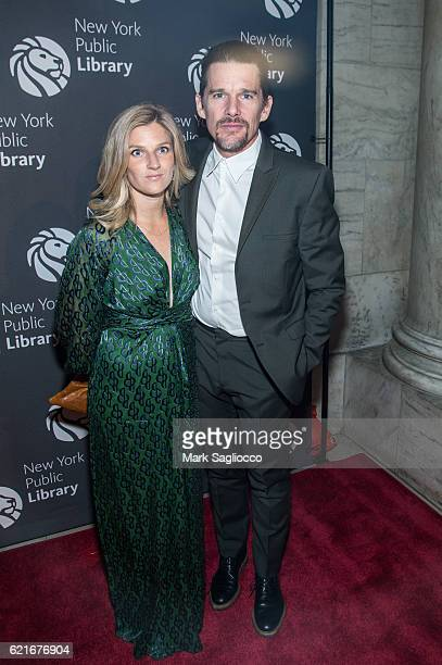 Ryan Hawke and Actor Ethan Hawke attend the 2016 Library Lions Gala at New York Public Library Stephen A Schwartzman Building on November 7 2016 in...