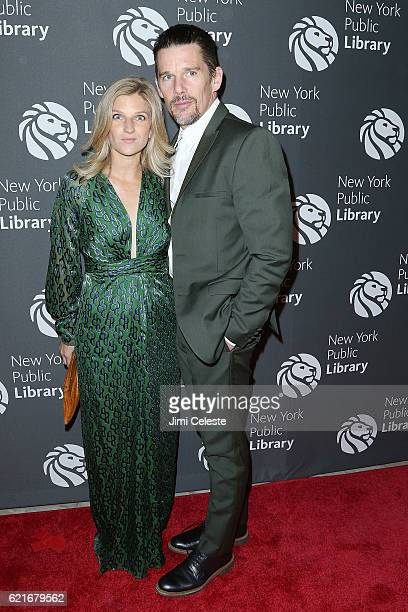 Ryan Hawke and Actor Ethan Hawke attends 2016 Library Lions Gala at New York Public Library Stephen A Schwartzman Building on November 7 2016 in New...