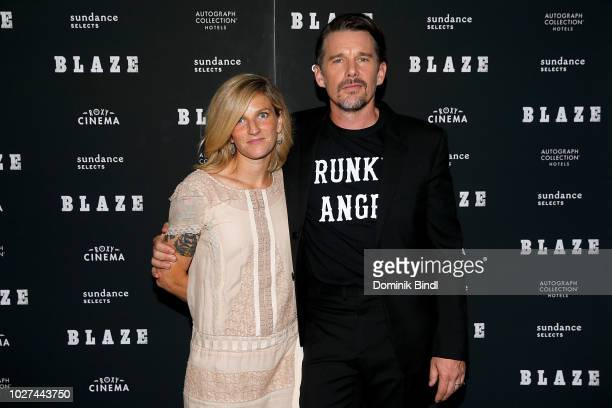 Ryan Hawke and Ethan Hawke arrive for the New York screening of Blaze at IFC Center on September 5 2018 in New York City