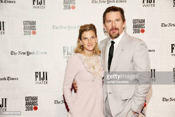 Ryan Hawke and Ethan Hawke attend IFP's 28th Annual Gotham Independent Film Awards at Cipriani Wall Street on November 26 2018 in New York City
