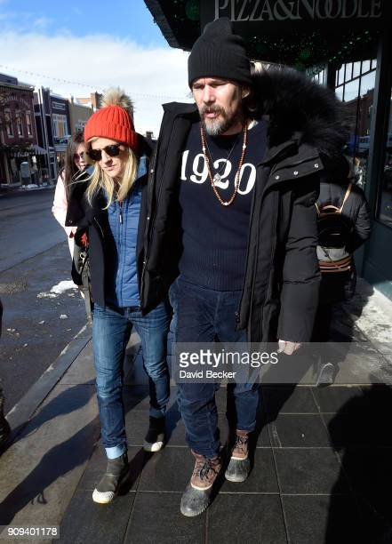 Ryan Hawke and Ethan Hawke attend the 2018 Sundance Film Festival on January 23 2018 in Park City Utah