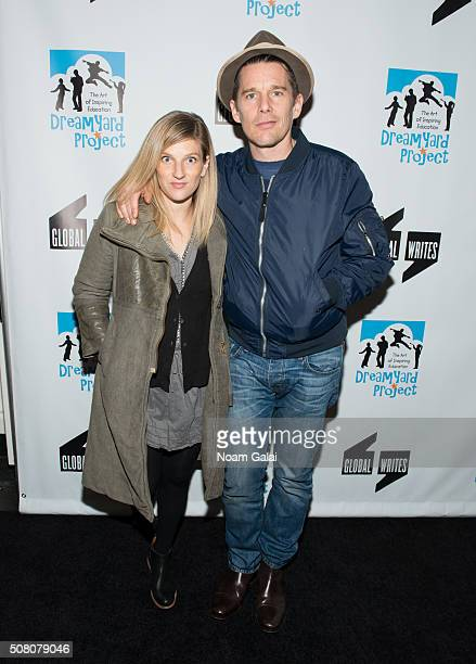 Ryan Hawke and Ethan Hawke attend the Bronxwrites' Poetry Slam finals at Joe's Pub on February 2 2016 in New York City