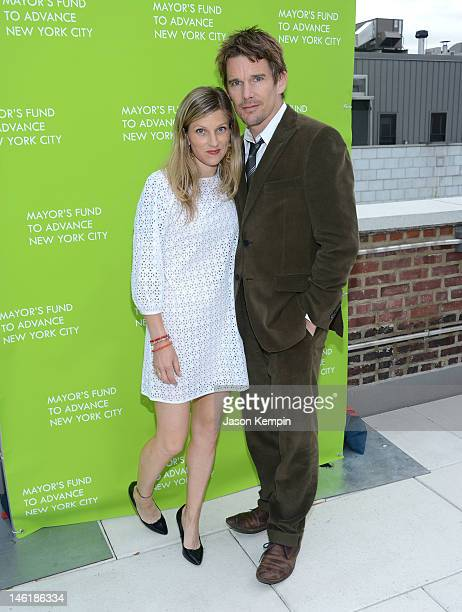 Ryan Hawke and Ethan Hawke attend the Mayor's Fund to Advance New York City Annual Benefit at Grey Rooftop Terrace on June 11 2012 in New York City