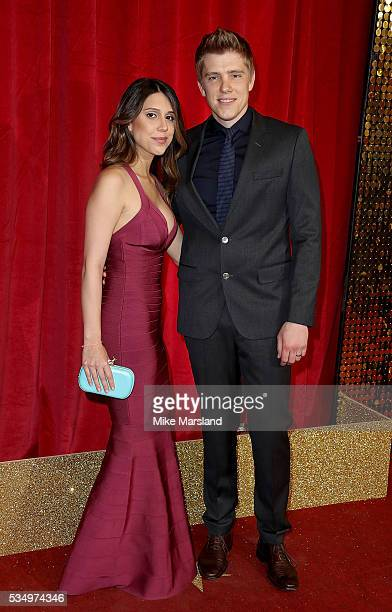 Ryan Hawley and guest attend the British Soap Awards 2016 at Hackney Empire on May 28 2016 in London England