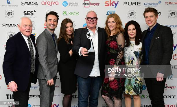 Ryan Hawley Katherine Dow Blyton Dominic Brunt Chris Chittell Samantha Giles Joseph McFadden Sally Dexter with the Soap of the Year Award for...