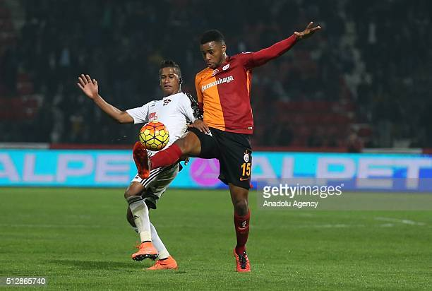 Ryan Henk Donk of Galatasaray in action during Turkish Spor Toto Super Lig football match between Gaziantep and Galatasaray at Kamil Ocak Stadium in...