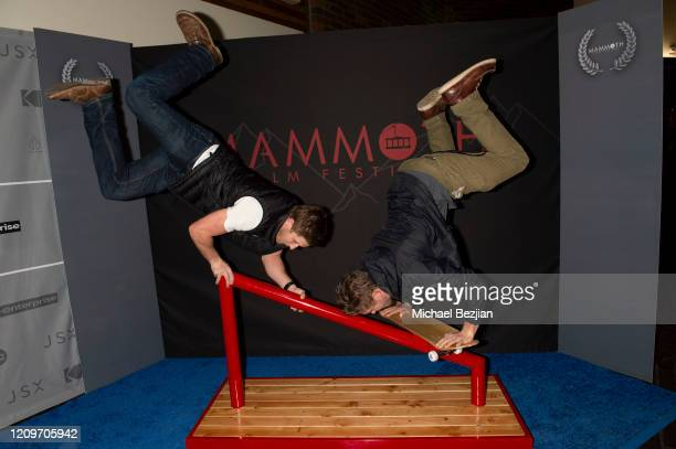 Ryan Higginbotham and Casey Higginbotham pose for portrait at 3rd Annual Mammoth Film Festival Red Carpet Saturday on February 29 2020 in Mammoth...