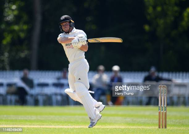 Ryan Higgins of Gloucestershire bats during Day Two of the Specsavers County Championship Division Two match between Glamorgan and Gloucestershire at...