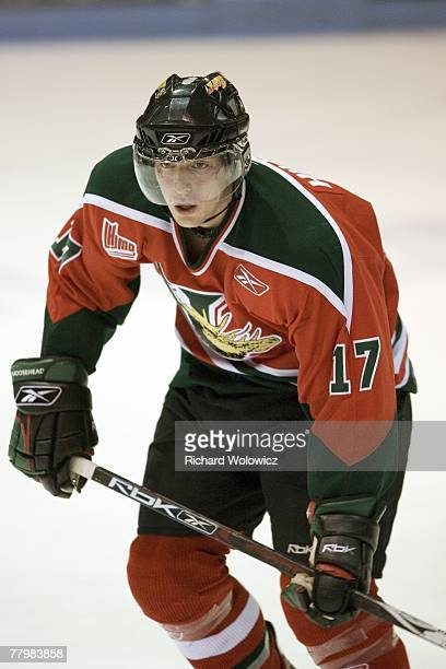 Ryan Hillier of the Halifax Mooseheads skates during the game against the Drummondville Voltigeurs at the Centre Marcel Dionne on November 18 2007 in...