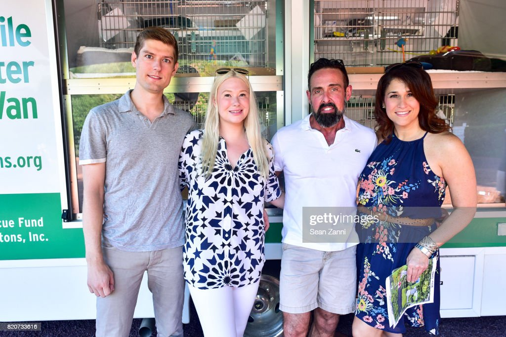 Ryan Hoffman, Isabelle Trapnell Marino, Juan Carlos Menendez, Catherine Philbin attend ARF in the Garden of Peter Marino at a Private Residence on July 15, 2017 in Southampton, NY.