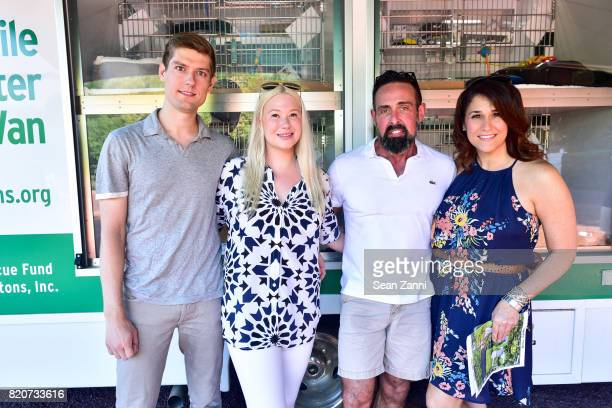 Ryan Hoffman Isabelle Trapnell Marino Juan Carlos Menendez Catherine Philbin attend ARF in the Garden of Peter Marino at a Private Residence on July...