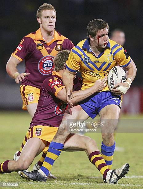 Ryan Hoffman of City is tackled during the NRL City v Country Origin match at Apex Oval May 12 2006 in Dubbo Australia